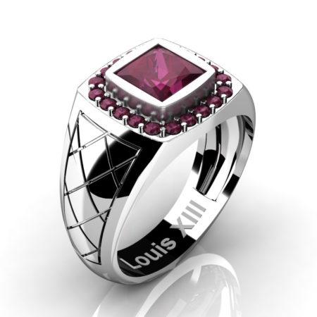 Louis-XIII-Modern-14K-White-Gold-1-25-Carat-Princess-Rose-Ruby-Wedding-Ring-R1131-14KWGRR