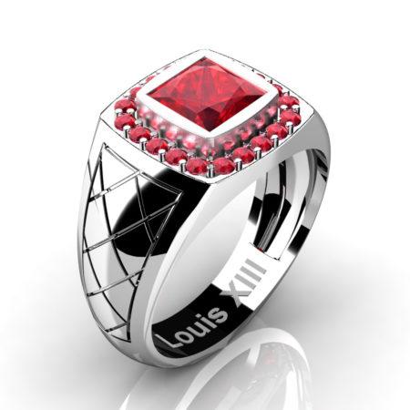 Louis-XIII-Modern-14K-White-Gold-1-25-Carat-Princess-Ruby-Wedding-Ring-R1131-14KWGR3