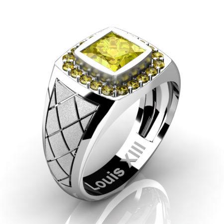 Louis-XIII-Modern-14K-White-Gold-1-25-Carat-Princess-Yellow-Sapphire-Wedding-Ring-R1131-14KSWGYS3